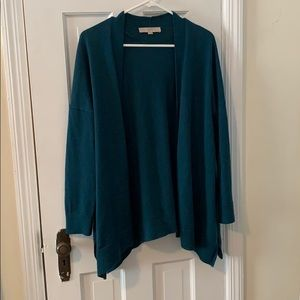 PRICE FIRM - Open teal cardigan